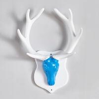 【品牌热卖】鹿头鹿角挂钩创意衣帽架墙上钥匙玄关门口墙壁装饰壁挂衣架免打孔