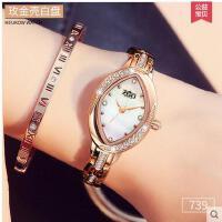 女士手表小巧精致菱形女中学生时尚手表韩版时尚女士手表防水时尚款带钻手链表支持礼品卡支付