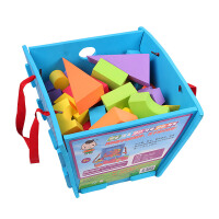 孩子亲子泡沫软体积木模型礼品礼包框装积木玩具