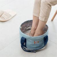 旅行便携式可折叠水盆户外泡脚袋大号旅游洗衣洗脸盆小号洗脚水桶