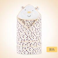 婴儿抱被新生儿包被纯棉秋冬季抱毯可脱胆襁褓巾
