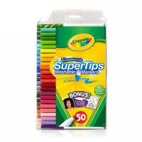 Crayola绘儿乐 58-5050 可水洗50色细杆水彩笔 当当自营