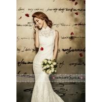 婚纱礼服新款时尚新娘结婚韩式婚纱鱼尾长拖尾修身显瘦婚纱女 加大XX