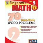 英文原版 新加坡数学70道必会应用题,第2级,3年级 Singapore Math 70 Must-Know Word
