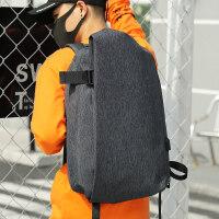 男士双肩包韩版休闲背包男时尚大学生书包防水尼龙旅行电脑包