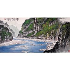 画家   黄纯尧《青绿山水》