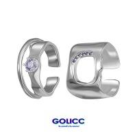 GOLICC新品男士镂空戒指女小众设计开口戒创意个性情侣指环古里雅