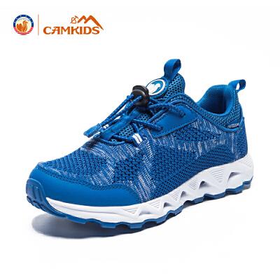 【专区满100减50元】CAMKIDS2018春季新款男童鞋儿童运动鞋透气中大童跑步鞋轻便
