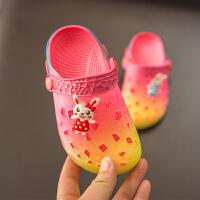 宝宝拖鞋夏男1-3岁防滑婴幼儿室内软底女童凉拖鞋儿童小孩