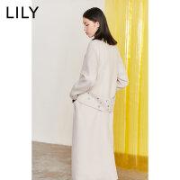 【1/18�_�� 到手�r580元】LILY冬新款女�b�羊毛�p面呢大衣�L款毛呢外套119420F1103