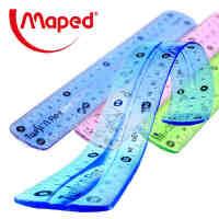 MAPED马培德超软直尺 学生文具尺 软尺 可弯曲直尺 不易折断直尺