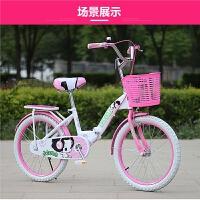折叠儿童自行车20寸18/22寸女孩单车6-8-10-12岁小学生小孩女童车