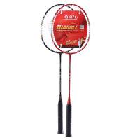 强力 情侣羽毛球拍 家庭学生初学 碳素进攻型训练拍 2支装 B90-2