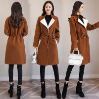 毛呢外套女中长款新款英伦风修身双面呢呢子加厚大衣秋冬款