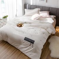 家纺绣花水洗全棉冬被儿童纯棉秋冬季被子被芯褥加厚保暖单双人