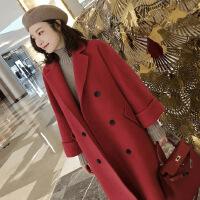 新款秋冬毛呢大衣外套女呢子外套 中长款韩版学生呢子大衣潮 X