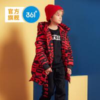 【2.5折】361度男童装 男童长款羽绒服外套2018冬季新品 N51843957
