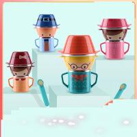 婴儿童餐具套装叉勺水杯宝宝碗防摔卡通不锈钢吸盘辅食碗家用e5b