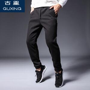 古星运动裤男长裤秋冬加绒加厚宽松直筒针织裤大码休闲篮球裤卫裤
