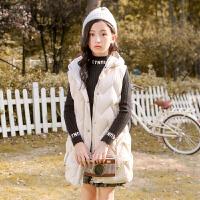 童装女童棉马甲儿童背心秋冬中大童时尚保暖百搭外套