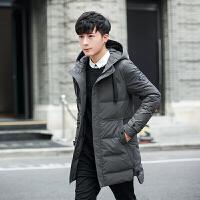 2017新款冬装青少年加厚羽绒棉衣韩版修身连帽纯色男士棉衣外套