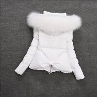 2017新款羽绒服女短款加厚修身韩版大码短外套 S 90斤以下