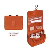 现货纯色防水尼龙折叠洗漱包男女实用便携旅行化妆包SN3387 dark orange深桔