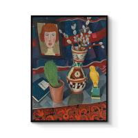 现代欧式装饰画美式客厅沙发背景墙壁画餐厅玄关挂画创意静物油画 70x100cm嵌框 单幅价格 黑色