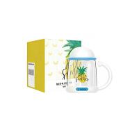 杯具熊(BEDDYBEAR) 双层玻璃杯带滤网男女学生杯带手柄花茶杯韩版创意办公水杯350ml 大菠萝