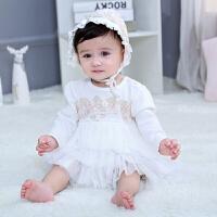 婴儿公主范服装用品礼盒春夏新生儿礼盒女宝宝衣服套装满月周岁礼
