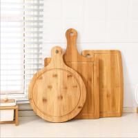 日式披萨板托盘厨房竹制菜板圆形楠竹砧板家用烘焙牛排竹餐盘水果