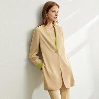 Amii轻熟风洋气套装两件套女秋新款外套裤装背心时尚三件套潮