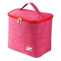 {夏季贱卖}铝箔便当包午餐饭盒手提包大号带饭袋子便当袋饭盒袋饭盒包 红色