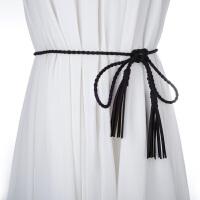 时尚百搭女士超纤打结细腰带 配裙子装饰编织森女文艺范腰带腰链