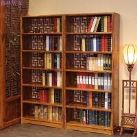 明清实木仿古中式落地书架书橱书柜置物架茶叶架南榆木家具