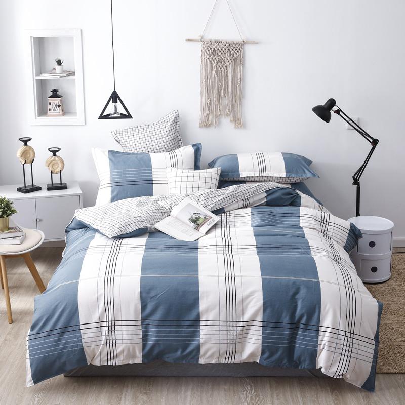 四件套全棉纯棉床上四件套加厚1.8m床单被套双人床单四件套