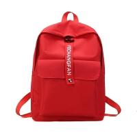 日系港风帆布双肩包韩版学院风百搭中学生书包女拉杆电脑包潮背包