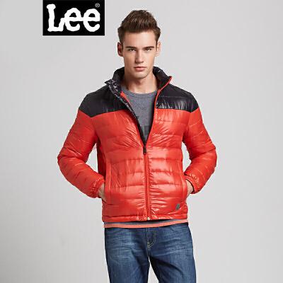 Lee男士休闲拼接色保暖羽绒服外套L13522156K13时尚轻薄羽绒服