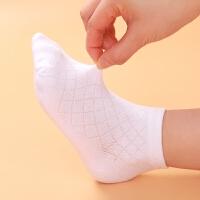 儿童船袜夏季薄款袜子学生短袜白袜子男童女童小孩网眼袜