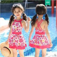 儿童泳衣女童连体可爱公主裙式宝宝泳衣小中大童泳装游泳衣