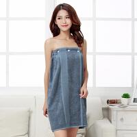 毛巾料 竹纤维男女通用可穿抹胸浴裙比纯棉吸水柔软透气按扣浴巾