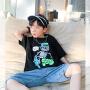 【2件2折】左西男童短袖T恤2021新款夏装儿童中大童韩版纯棉休闲潮流夏
