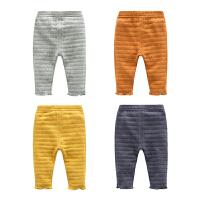 婴儿裤子春装女童打底裤修身1岁3个月宝宝男童长裤