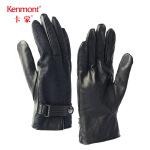 卡蒙冬天羊毛呢男士真皮手套户外保暖触屏手套加厚骑行摩托车手套2827