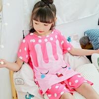 儿童睡衣男女童家居服套装棉质薄款中大童空调服宝宝
