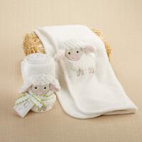 美国BabyAspen 快乐小羊毛毯 新生儿抱毯 婴儿薄款盖毯
