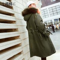 中长款羽绒服女2017冬季装新款韩版潮百搭过膝白鸭绒宽松复古外套