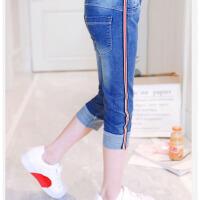 小学生时尚韩版牛仔裤子女童装中大童休闲薄款夏季儿童裤