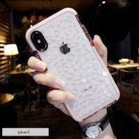 苹果X手机壳新款XsMax8plus全包防摔7p潮牌女款6s硅胶软套iPhone x透明6s iPhoneX 淡粉水感