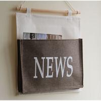杂志壁挂式收纳袋报纸储物袋平板pad床头挂袋墙上门后大号袋 35宽*40高